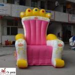 כסא מלך מלכה מתנפח להשכרה